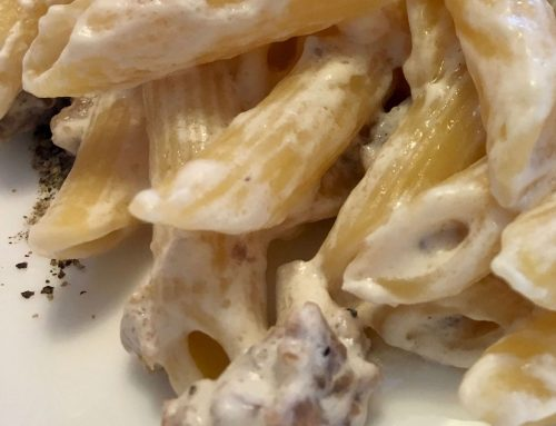 PENNE PANNA E TARTUFO – Penne with cream sauce and truffle